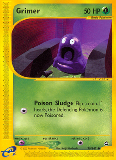 Grimer card for Aquapolis