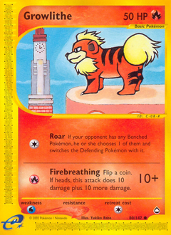 Growlithe card for Aquapolis