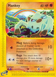 Mankey card for Aquapolis