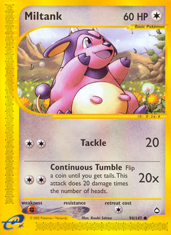 Miltank card for Aquapolis