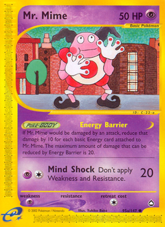 Mr. Mime card for Aquapolis