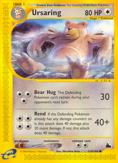 Ursaring card for Skyridge