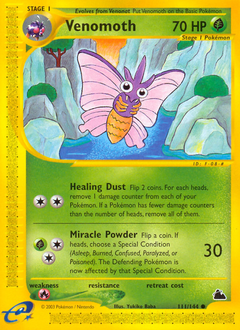 Venomoth card for Skyridge