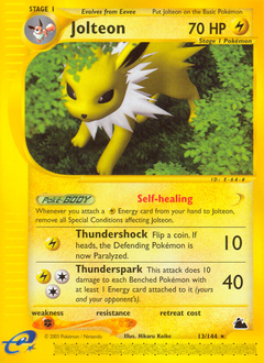 Jolteon card for Skyridge