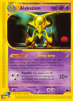 Alakazam card for Skyridge