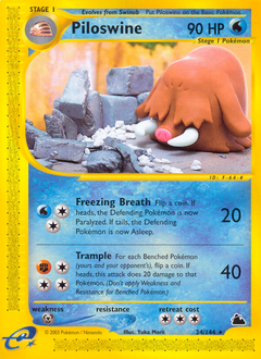 Piloswine card for Skyridge