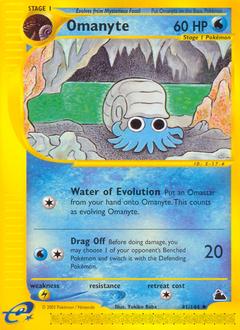 Omanyte card for Skyridge