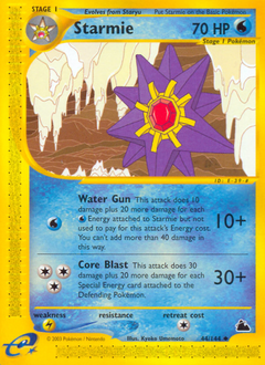Starmie card for Skyridge