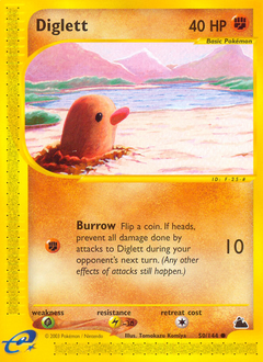 Diglett card for Skyridge