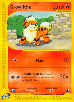 Growlithe card for Skyridge