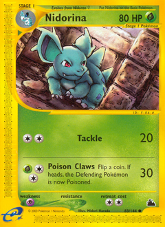 Nidorina card for Skyridge