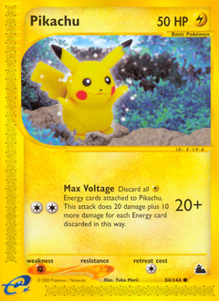 Pikachu card for Skyridge