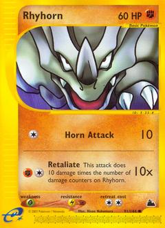 Rhyhorn card for Skyridge