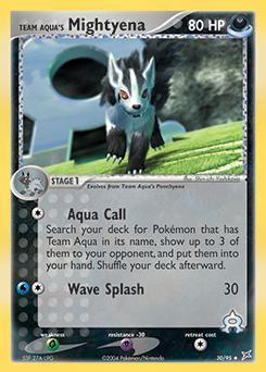 Team Aqua's Mightyena