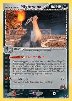 Team Magma's Mightyena