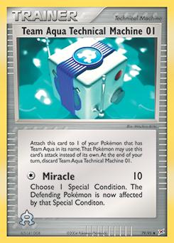 Team Aqua's Technical Machine 01