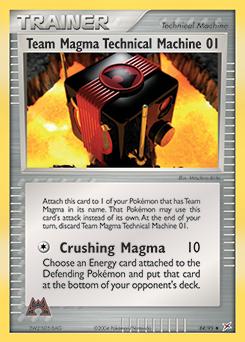 Team Magma's Technical Machine 01