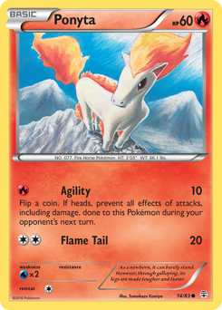 Ponyta card for Generations