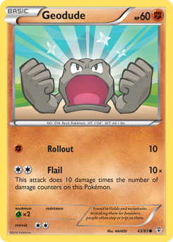 Geodude card for Generations