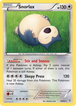 Snorlax card for Generations