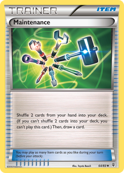 Maintenance card for Generations