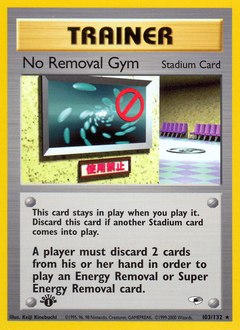 No Removal Gym card for Gym Heroes