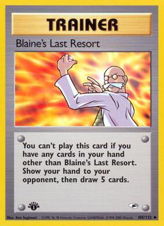 Blaine's Last Resort card for Gym Heroes