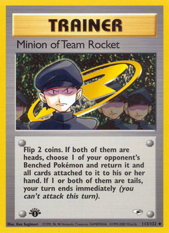 Minion of Team Rocket card for Gym Heroes