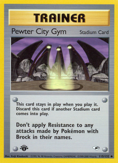 Pewter City Gym card for Gym Heroes