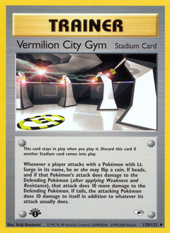Vermilion City Gym card for Gym Heroes