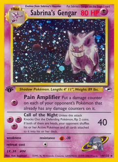 Sabrina's Gengar card for Gym Heroes