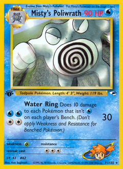 Misty's Poliwrath card for Gym Heroes