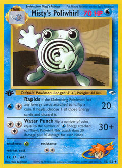 Misty's Poliwhirl card for Gym Heroes