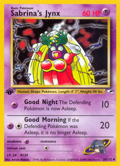 Sabrina's Jynx card for Gym Heroes