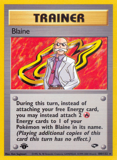 Blaine card for Gym Challenge