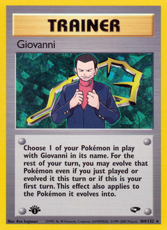 Giovanni card for Gym Challenge