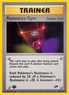 Resistance Gym card for Gym Challenge