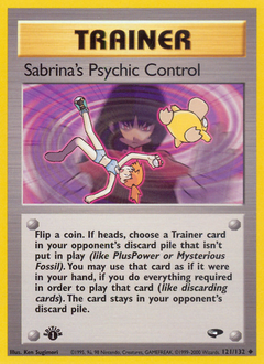 Sabrina's Psychic Control card for Gym Challenge