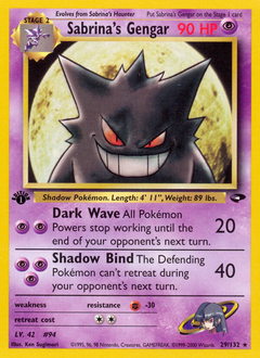 Sabrina's Gengar card for Gym Challenge