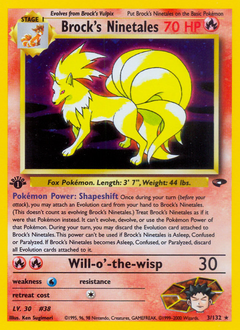Brock's Ninetales card for Gym Challenge