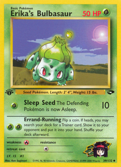 Erika's Bulbasaur card for Gym Challenge