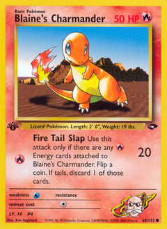 Blaine's Charmander card for Gym Challenge