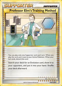 Professor Elm's Training Method card for HeartGold & SoulSilver