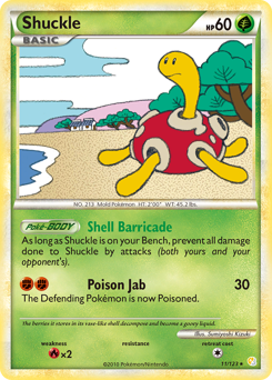 Shuckle card for HeartGold & SoulSilver