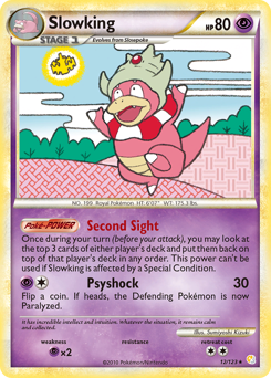 Slowking card for HeartGold & SoulSilver