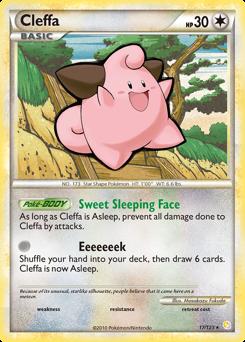 Cleffa card for HeartGold & SoulSilver