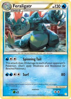 Feraligatr card for HeartGold & SoulSilver
