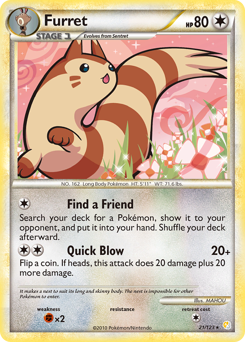 Furret card for HeartGold & SoulSilver