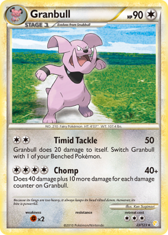 Granbull card for HeartGold & SoulSilver