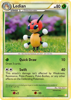 Ledian card for HeartGold & SoulSilver